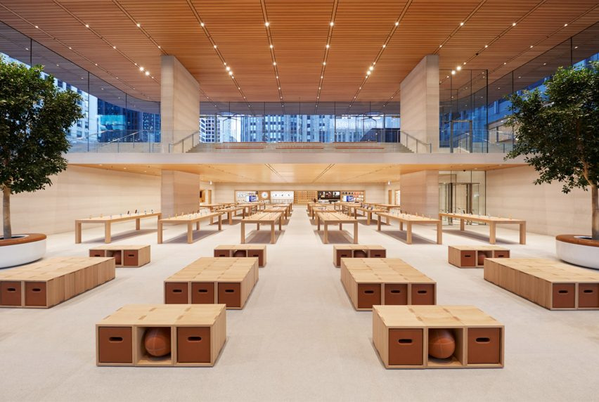 Крыши в форме Macbook застеклили Apple Store Foster + Partners в Чикаго, фото 2